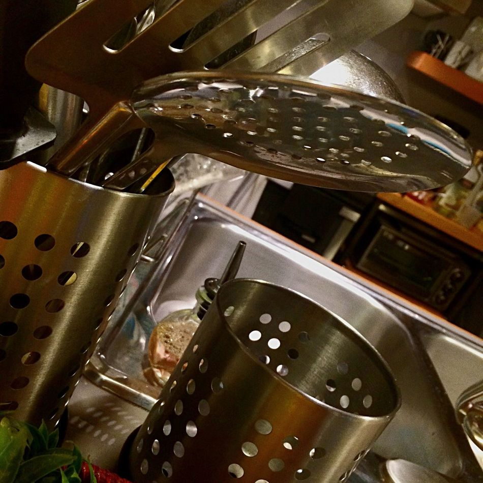 Shiny Things Kitchen Life Monochromatic Steel Cutlery Kitchen Art