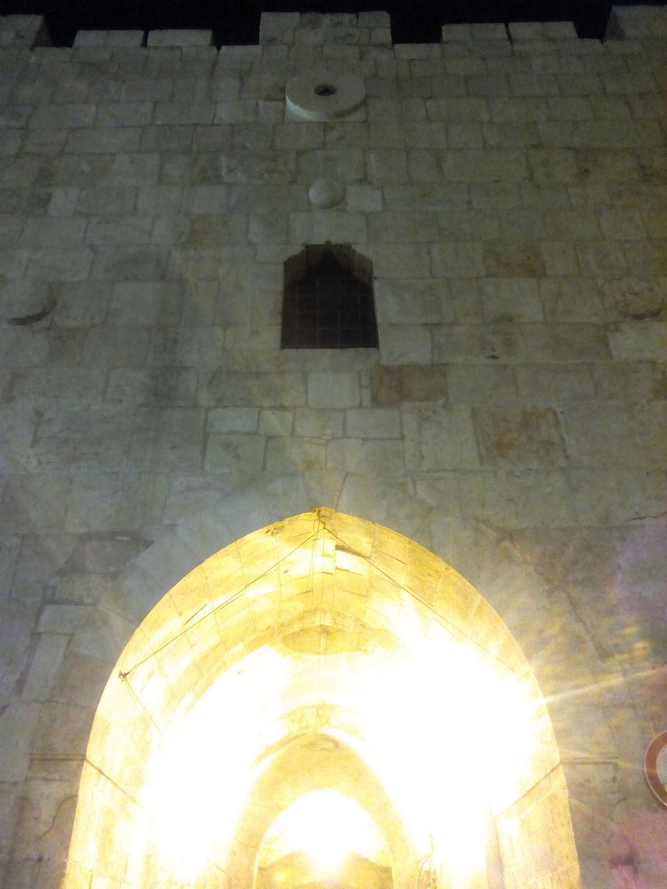 Herod's Gate sans les gardes en dessous.