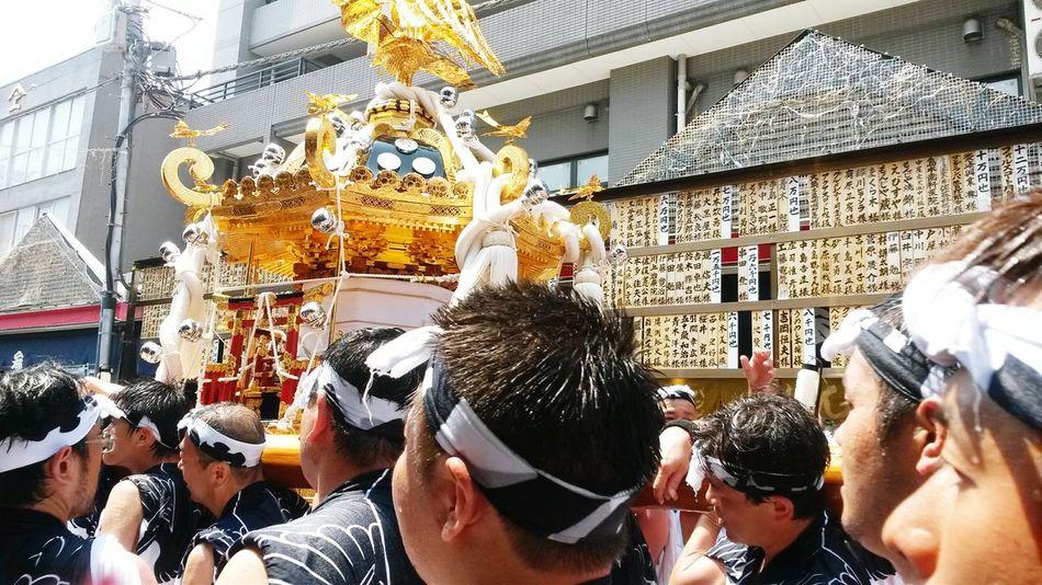 Tsukiji Matsuri Omatsuri Summer Sunny Day Japan Traditional Japanese  Monja Street