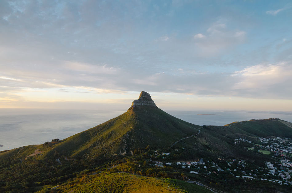 Cape Town Clouds And Mountains Hike Lion's Head Mountain Nature Outdoors South Africa Sunset