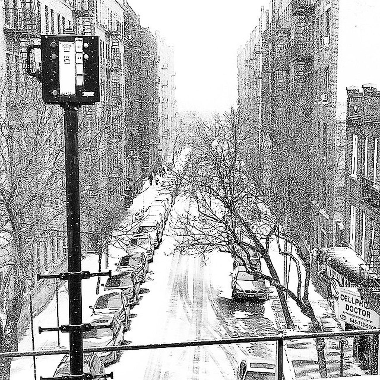 The storms a comin!! ❄️❄️❄️ Brightonbeach Brooklyn NYC Snowstorm Juno Blackandwhite Bw Instantartist