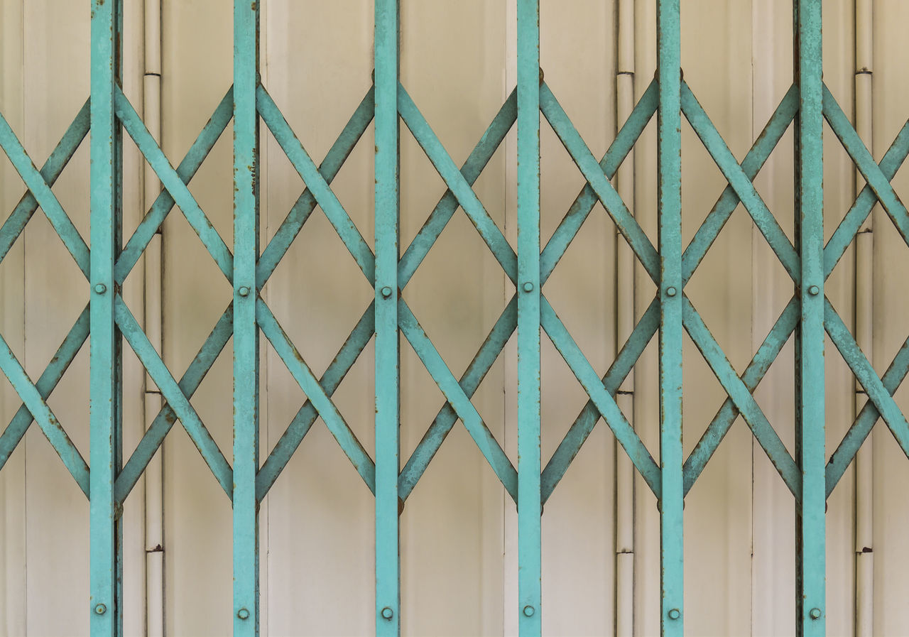 Old green and gray steel door Architecture Backgrounds Build Close Corrugated Culture Door Entrance Frame Garage Home Jalousie Metal Pattern Residental Retro Steel Structure Tradition Vintage Warehouse