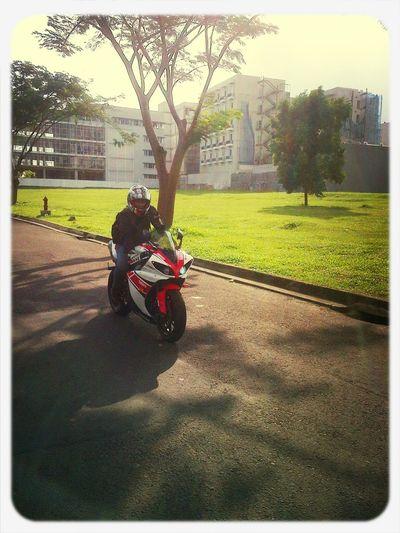 Riding in morning Throwback KBC YamahaR1 Daineseglove BSD #indonesia