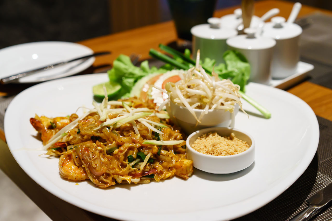 Close-up Day Food Food And Drink Freshness Indoors  Meal No People Phadthai Plate Ready-to-eat Table