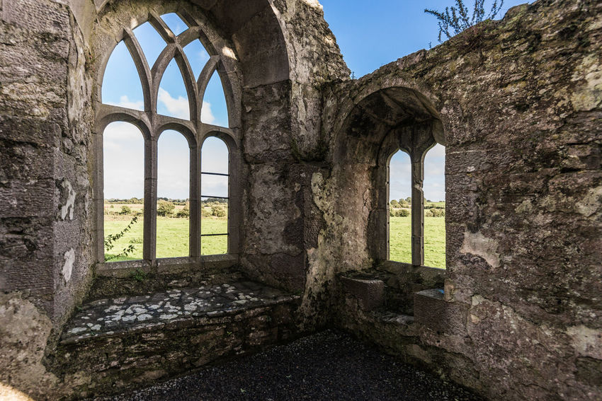Abbey Abbey Ruins Arch Architectural Column Architecture Built Structure Day History Medieval Natural Arch No People Outdoors Quin Abbey Ruins The Past Travel Destinations Window Window View