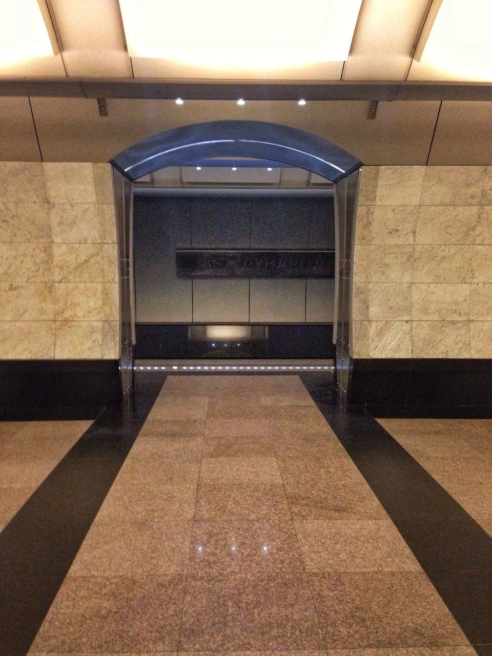 indoors, illuminated, ceiling, empty, the way forward, corridor, architecture, no people, built structure, subway station, technology, day