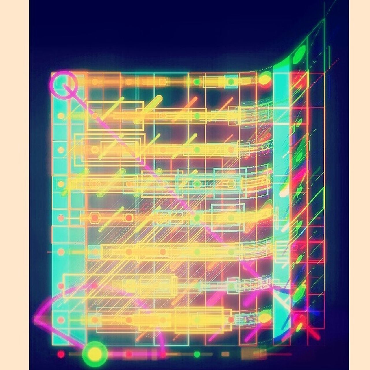 Gridview Digital Art Interface Colorful
