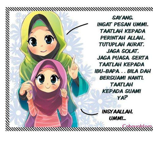 Inga - inga mama pung pasan Hijab Syar'i Luv Islam Muslimah Mom N Daughter