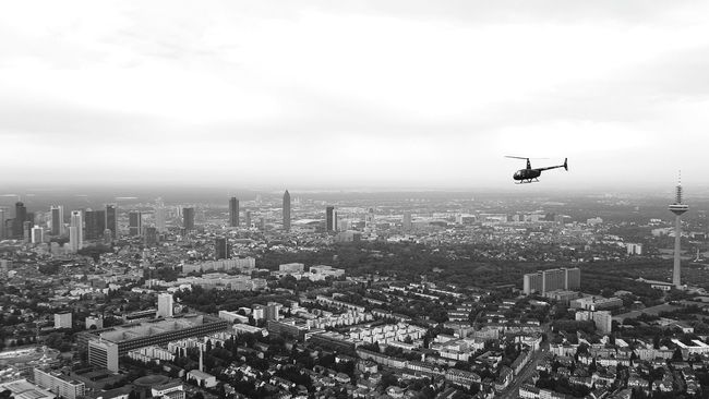 frankfurt/main aka mainhattan as seen from a helicopter. Huffington Post Stories Shootermag EyeEm Best Shots Mobilephotography Open Edit Mainhattan Skyline Blackandwhite The Minimals (less Edit Juxt Photography) Capturing Freedom