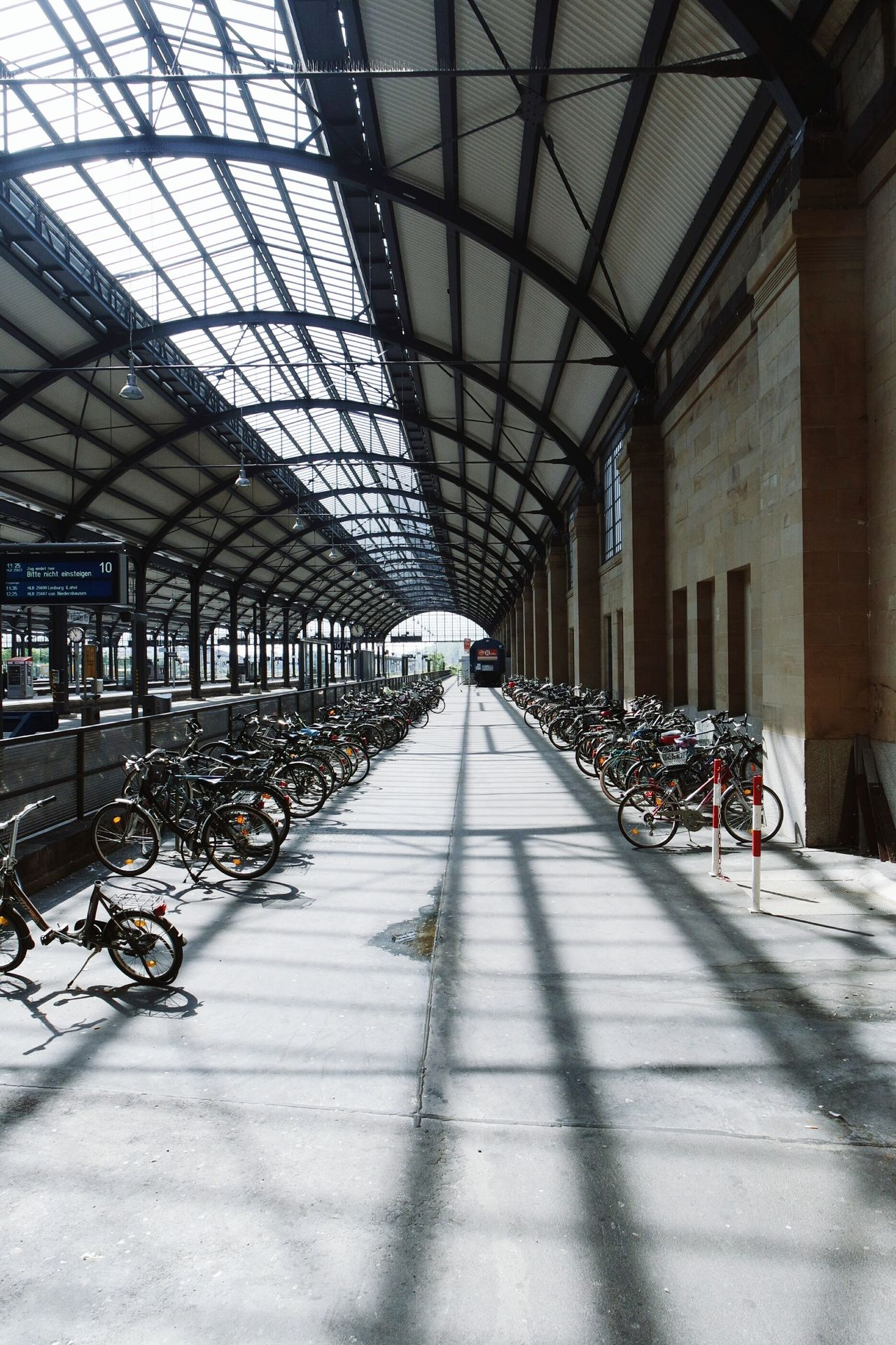 EyeEm Selects Architecture Built Structure Indoors  Day Shadow No People Architecture Trainstation Wiesbaden Hessen