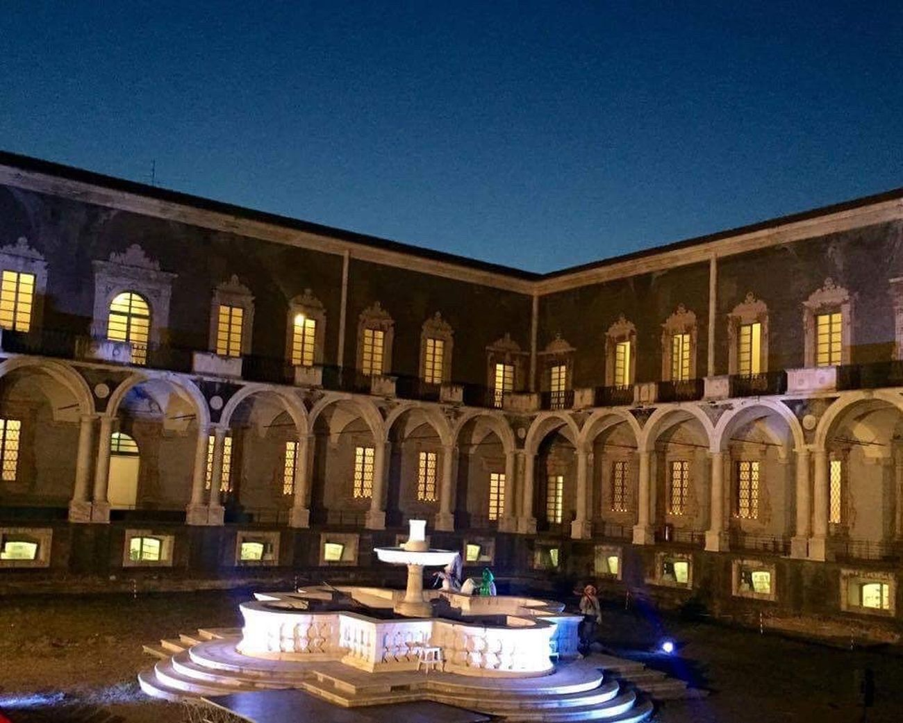 Night Clear Sky Architecture Built Structure Outdoors Building Exterior Illuminated No People Nightshot Night Lights Nightphotography Eyeem Photography Spirituality Low Angle View Colonnade Architectural Column Ancient Monastery Cloister Arch Windows The Architect - 2017 EyeEm Awards Mycity Catania, Sicily