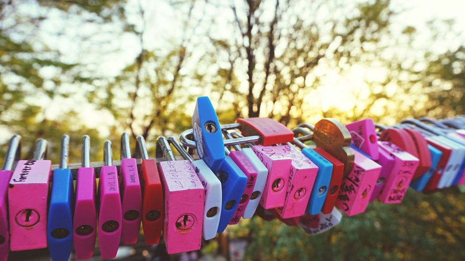Love Padlock Security Love Lock Hanging Lock Hope Large Group Of Objects Outdoors Hope - Concept Multi Colored Colorful Sunset Sunset Silhouettes Romance Romantic Landscape Art Is Everywhere EyeEm Gallery