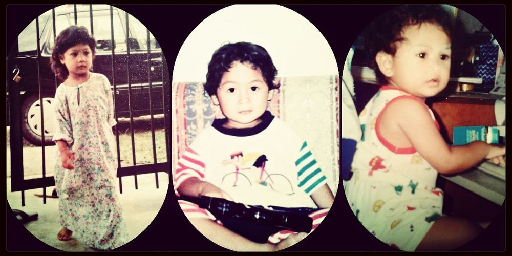 From left : Me, my lil bro and my lil sis. :) Siblings Throwback I Love My Siblings ♡