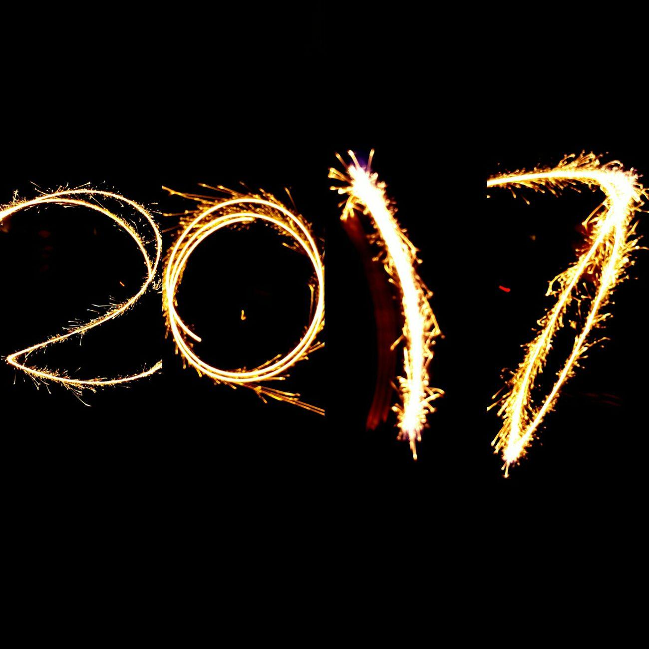 Sluitertijd NYE Celebration Firework Display Sparks Night 2017