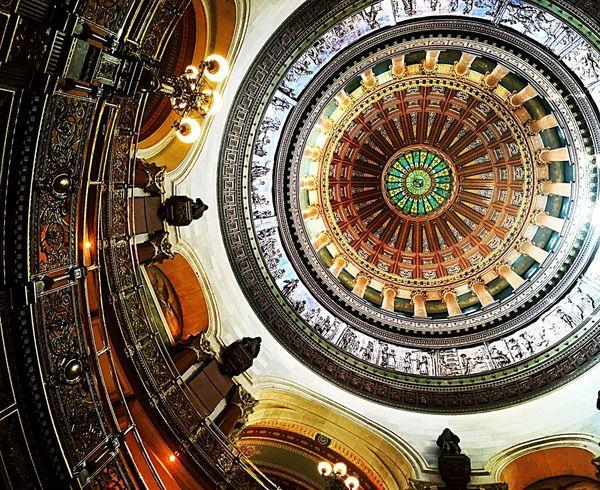Illinois Capitol dome Capitol Dome Illinois Springfield Illinois Illinois Capitol State Capitol State Capitols Capital Cities  Capital Buildings Ceiling