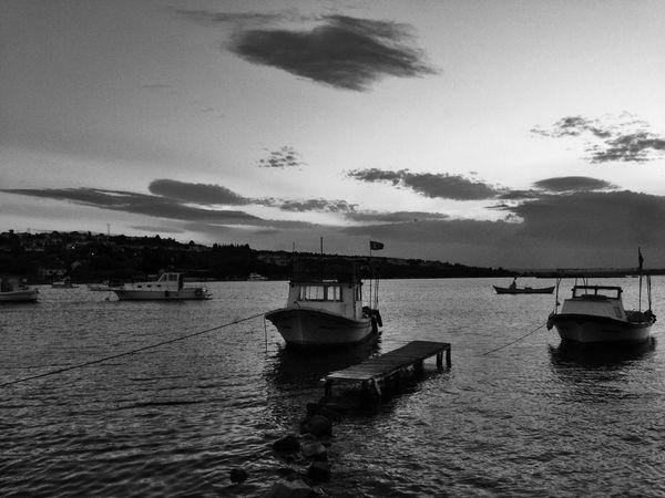 Ildiri Clouds And Sky Boats Landscape Blackandwhite Photography Blackandwhite Monochrome