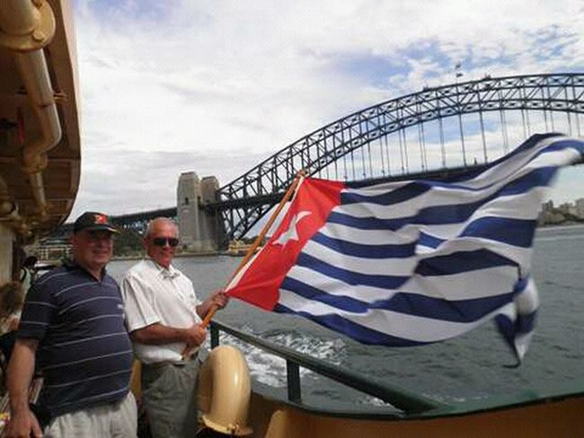 Australian give suport for free West Papua of Indonesia colonial. Two People Protective Workwear Teamwork Outdoors Patriotism Papua Free Of Indonesia Colonial West Papua Flag Celebration West Papua Politic Of Freedom West Papua Want To Free Of Indonesia Colonial. Countrylife Standing