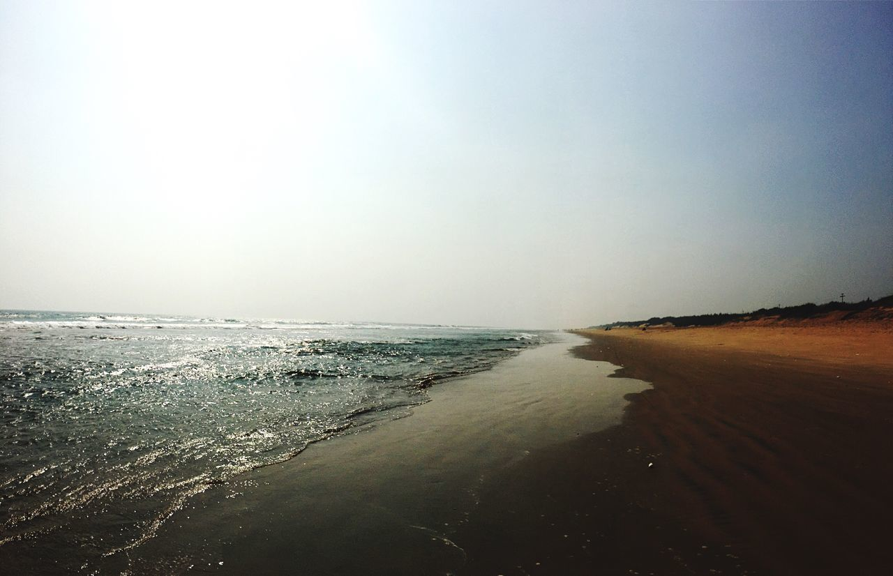 Sea Beach Horizon Over Water Water Scenics Nature Beauty In Nature Clear Sky Tranquility Sand Sky Tranquil Scene Outdoors Coastline Wave No People Day