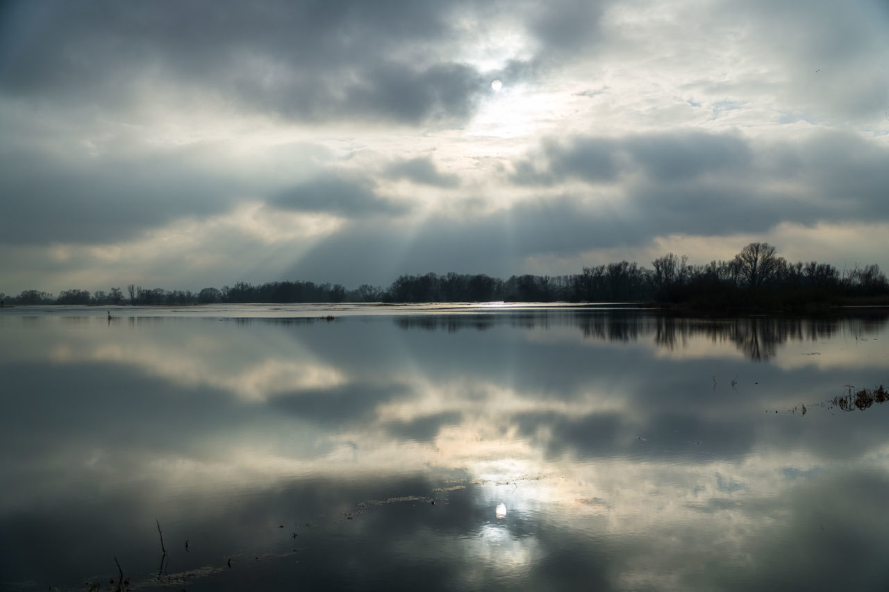 Landsscape photography in the area of Oderbruch in Germany. Dramatic Sky Mirror Reflection Beauty In Nature Cloud - Sky Day Idyllic Lake Nature No People Outdoors Reflection Scenics Sky Tranquil Scene Tranquility Water