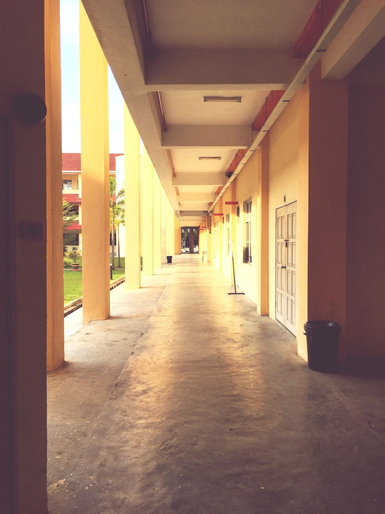 The Way Forward Architecture Built Structure Indoors  Day Passageway No People Passage Perspective Photography Perspective Corridor Architecture Morning View Morning Light Outdoors Building Exterior Buildings Architecture Building Building Structures Way Walkway