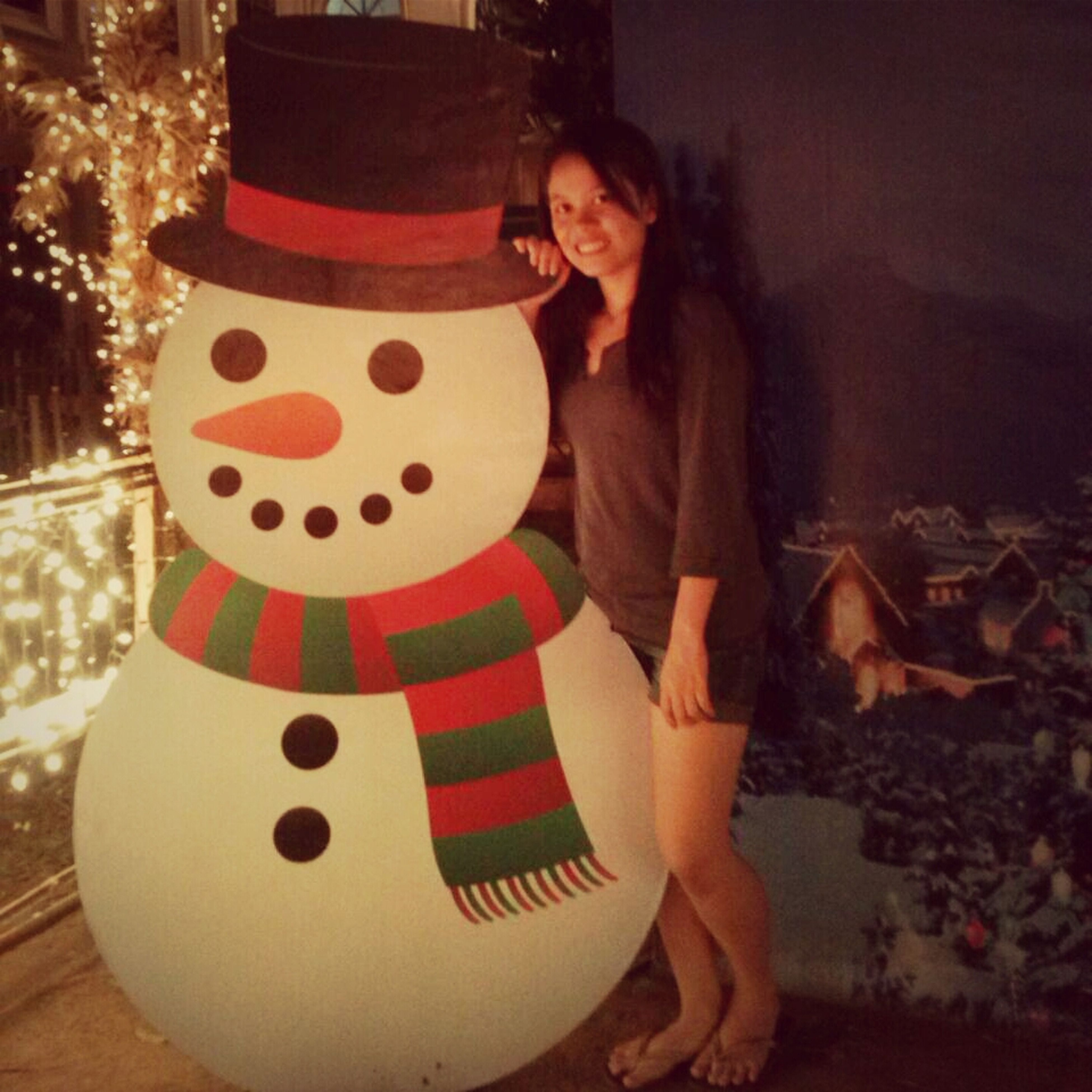 With Snowman