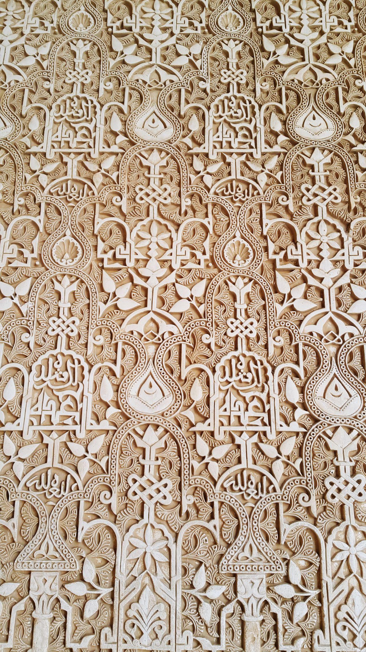 Carved wall of Elhambra @Granada, Spain Alhambra Granada SPAIN Carved Walls