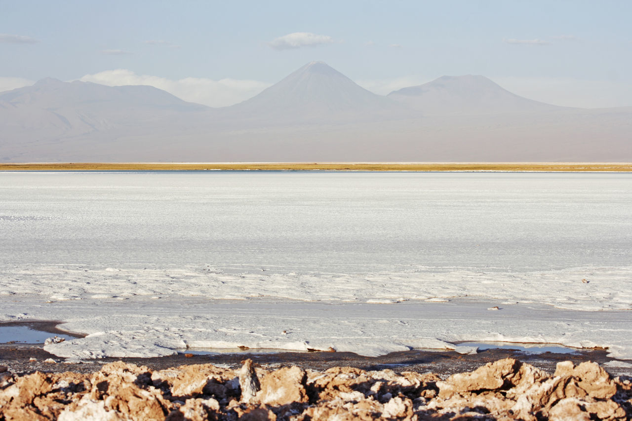 saltflats Beauty In Nature Chile Day Landscape Mountain Nature No People Outdoors Salt - Mineral Salt Flat Salt Lake San Pedro De Atacama Scenics Tranquil Scene Tranquility