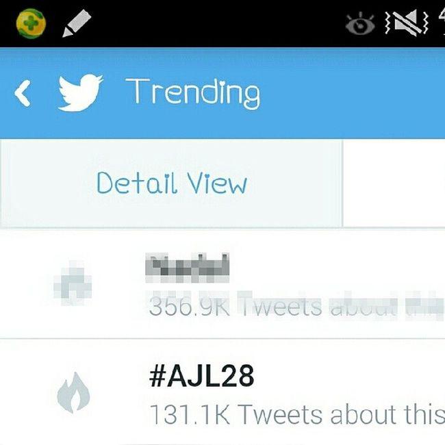 trending tonight! yezzzahhhh!! AJL28