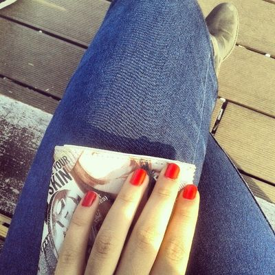 Red Nails Sunny Day