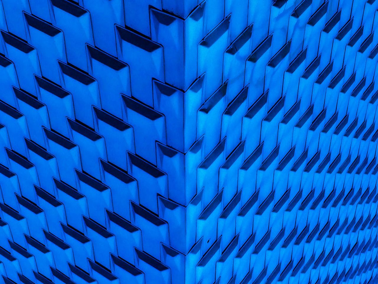 Cobalt Blue By Motorola Sunday_flip EyeEm Best Edits Urban Geometry IPhoneography Pattern Blue waves...