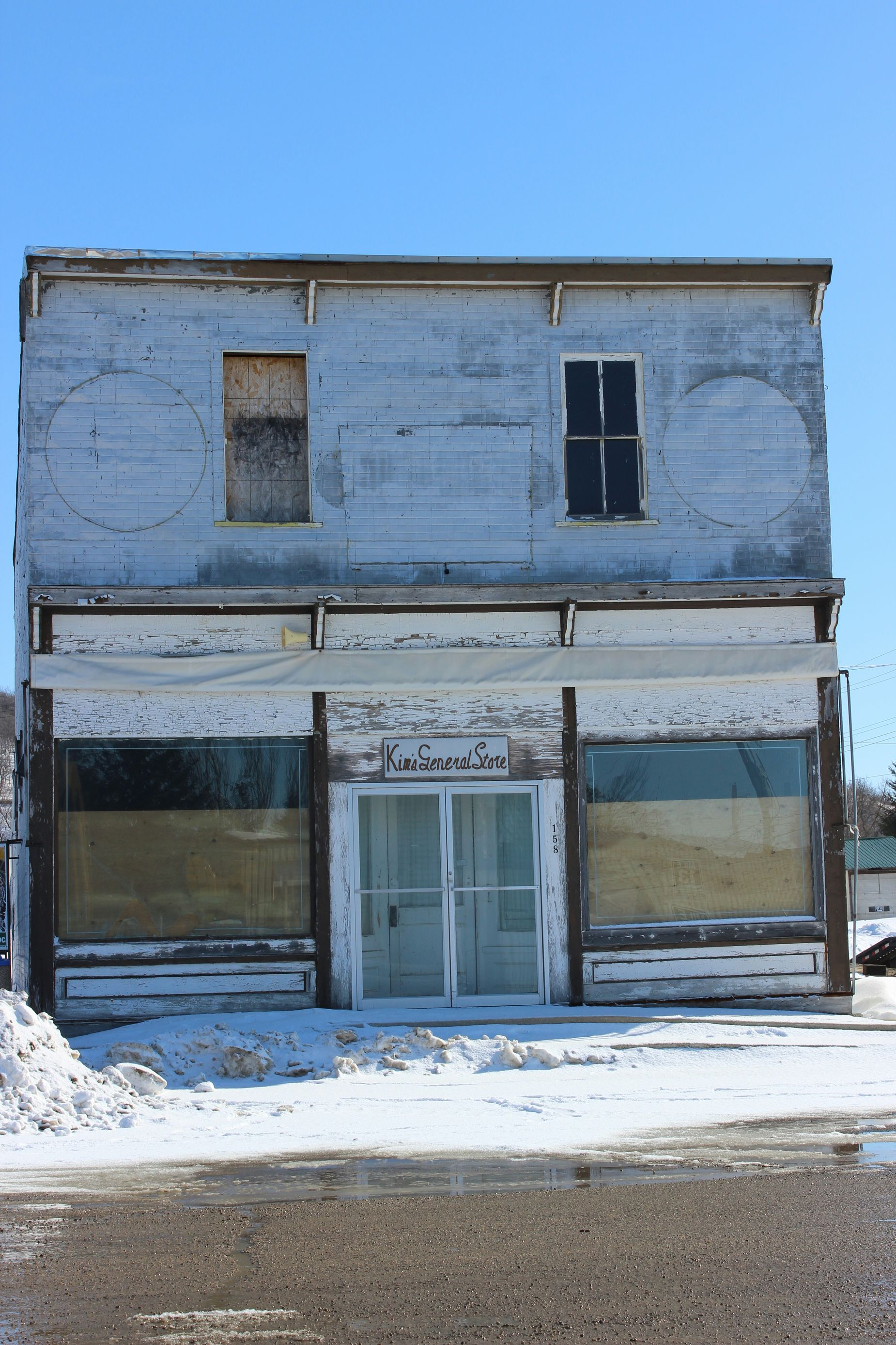 Old Buildings Old Store No Business Country Prairie Scenes sad Standing In Front Of Closed Doors Deserted