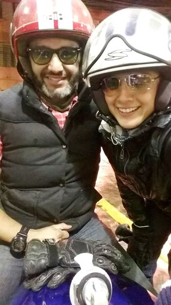 Two People Looking At Camera Togetherness Smiling Motorcycle Photography Indian Motorcycles Motorcycle BikerGirl Mexico City My Boy❤ In Love With Him