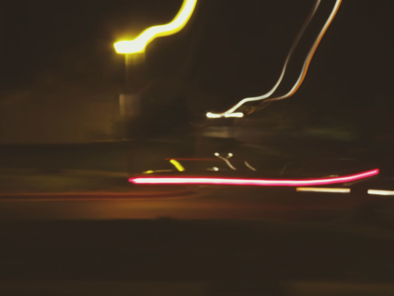 illuminated, night, glowing, lighting equipment, speed, light trail, long exposure, motion, technology, no people, blurred motion, electricity, close-up, indoors, neon