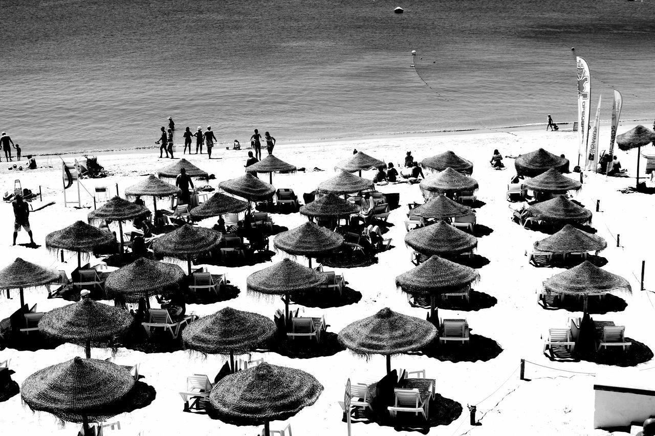 beach, sea, large group of people, water, sand, outdoors, day, men, real people, nature, nautical vessel, people