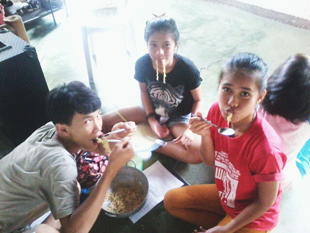 Eatingpancitcanton Withmybuddies Happy People Happy Time