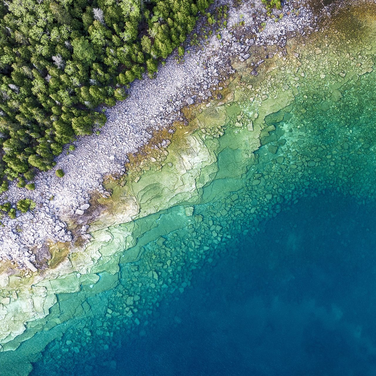 High Angle View Water Textured  Full Frame Nature Blue Fresh Pure Clean Coastal Water_collection Clear Shoreline Sea Stone Great Lakes Aerial Drone  Aerial View Lake Multi Colored Wilderness Scenics Pattern Geology The Great Outdoors - 2017 EyeEm Awards