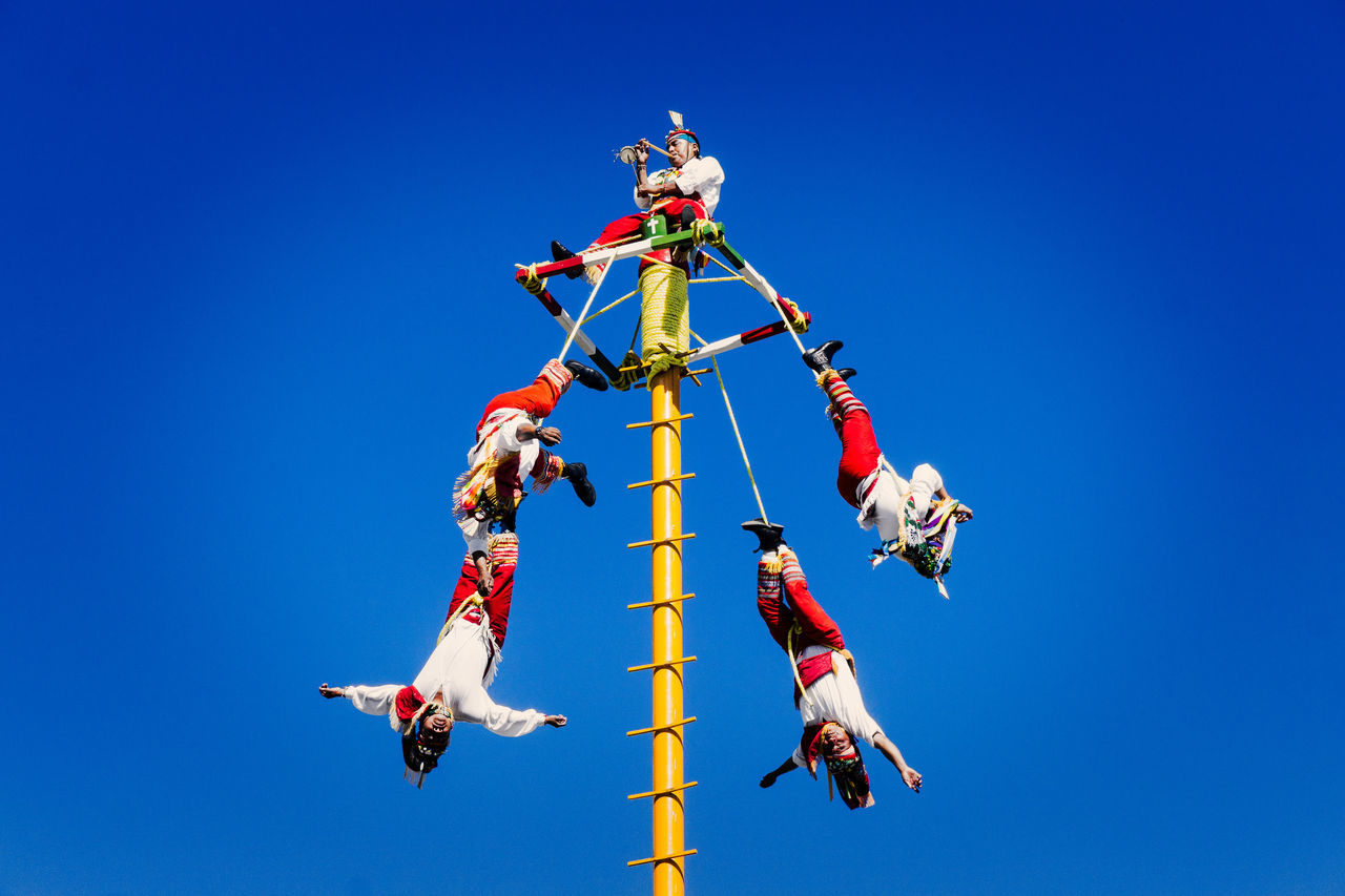 Voladores de Papantla Blue Clear Sky Culture Day Folk Folklore Tradition Voladores De Papantla