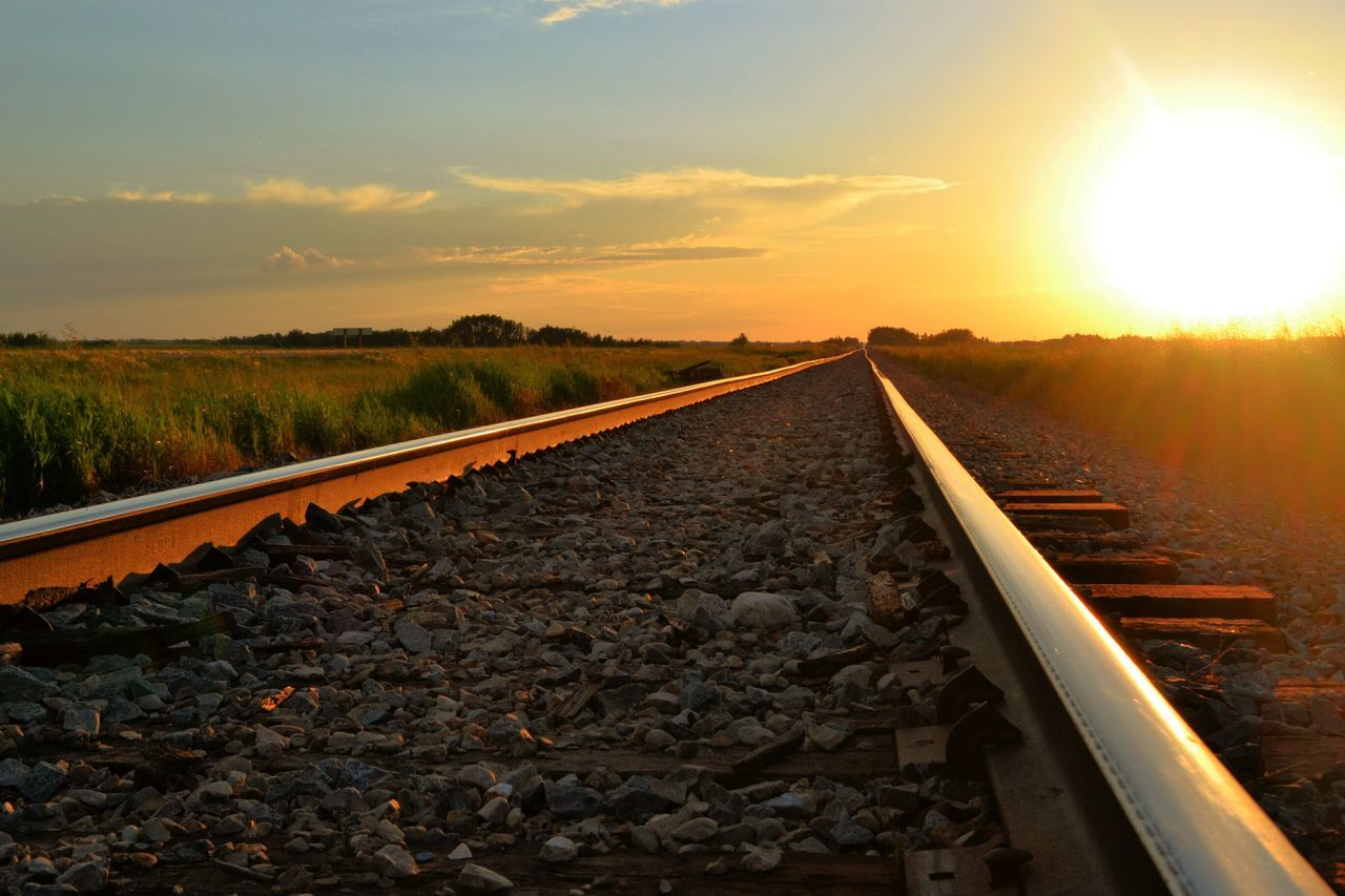 Ahhhh sweet summer memories(: Summer Railroad Sunset StreamzooVille