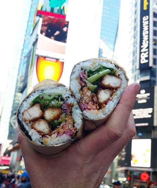About to GetHai in Times Square Sushiburrito Haistreetkitchen Hailife Prperks Anotherdayatwork Lovemyjob