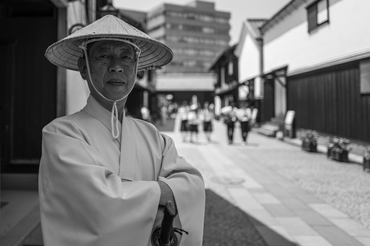 Photos from Nagasaki, Japan Architecture Building Exterior Built Structure Day Dejima(出島) Focus On Foreground Hat Japan KYUSHU Looking At Camera Mammal Men One Person Outdoors People Portrait Real People Traditional Clothing