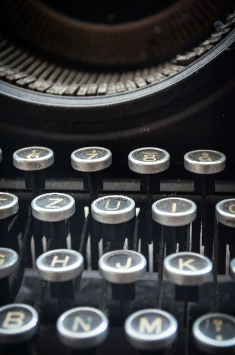 Schreibmaschine Writing Machine  Old Retro Makro Macro Schwarzweiß Blackandwhite