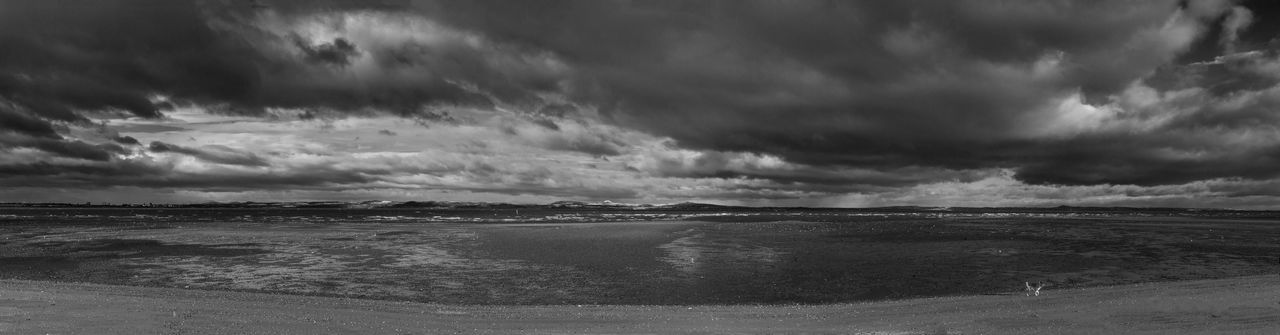 Looking across the Firth of Forth towards Fife from Fisherrow Clouds Clouds And Sky Fife  Firth Of Forth Fisherrow Kingdom Of Fife Landscape Monochrome Sky