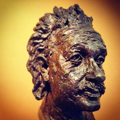 Art Clever Close-up Eistein Genuis Hair London Pensive Sculpture Statue Thoughful Yellow