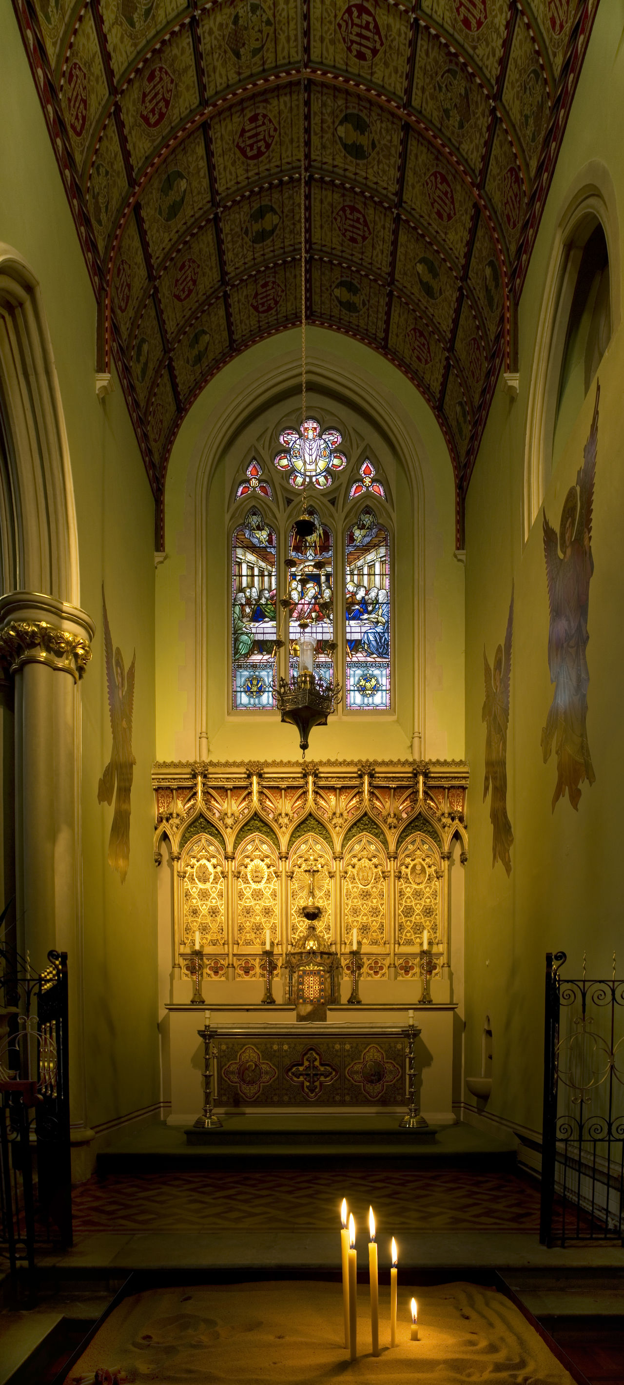 Candels Cathedral Catholic Church Chapel Mixed Lighting Mixed Lights Portsmouth St John's Cathedral Stained Glass Stained Glass Window Vertical Panorama The Architect - 2017 EyeEm Awards
