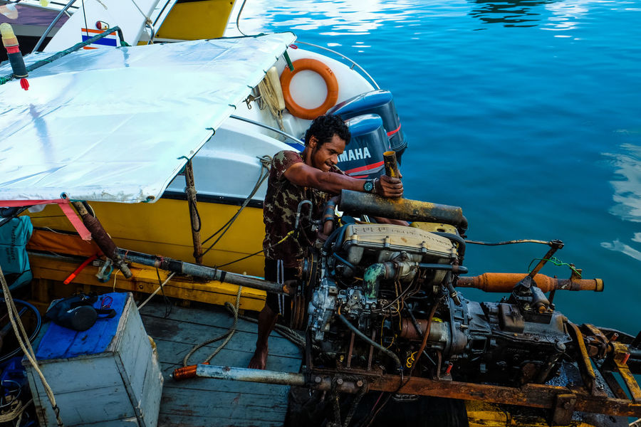 On daily basicTCPM Nautical Vessel Day Adult Adults Only One Man Only Only Men Skill  Water People Outdoors Sea One Person Boats Boat Boattrip Boats And Water Boat Dock Boat Life Boats And Sea Engine Engineering Engine Repair Engine Bay Engine Room The Portraitist - 2017 EyeEm Awards EyeEmNewHere
