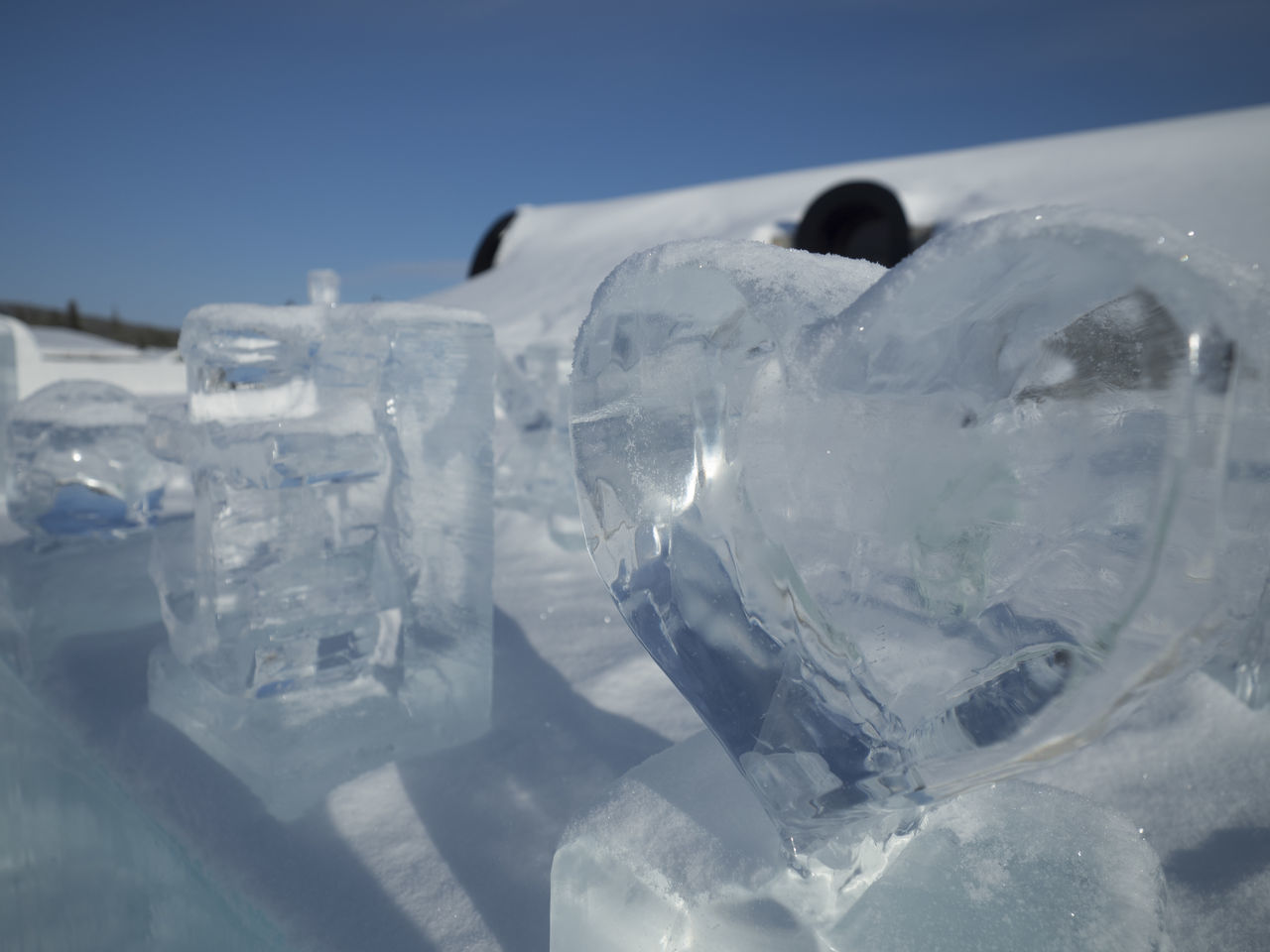 Cold Cold Temperature Day Frozen Ice Ice Carving Icehotel Kiruna No People Outdoors Sky Snow Winter