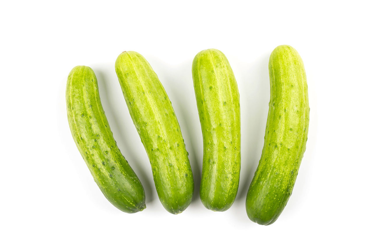 Fresh cucumbers isolated on white background Close-up Cucumber Food Food And Drink Fresh Freshness G Green Color Healthy Eating Isolated Nature No People Studio Shot Vegetable Vegetarian Food Victarion White Background