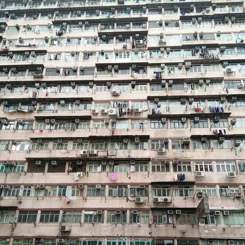 Hong Kong Home Crowded Suffocating City TOWNSCAPE China Density Crammed Sardines Aircon Pmg_hok
