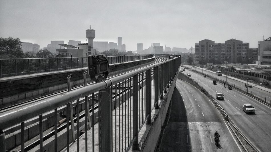 City Black And White Learning City Metro Station Rapid Metro Travel Sky Outdoors Built Structure Cityscape