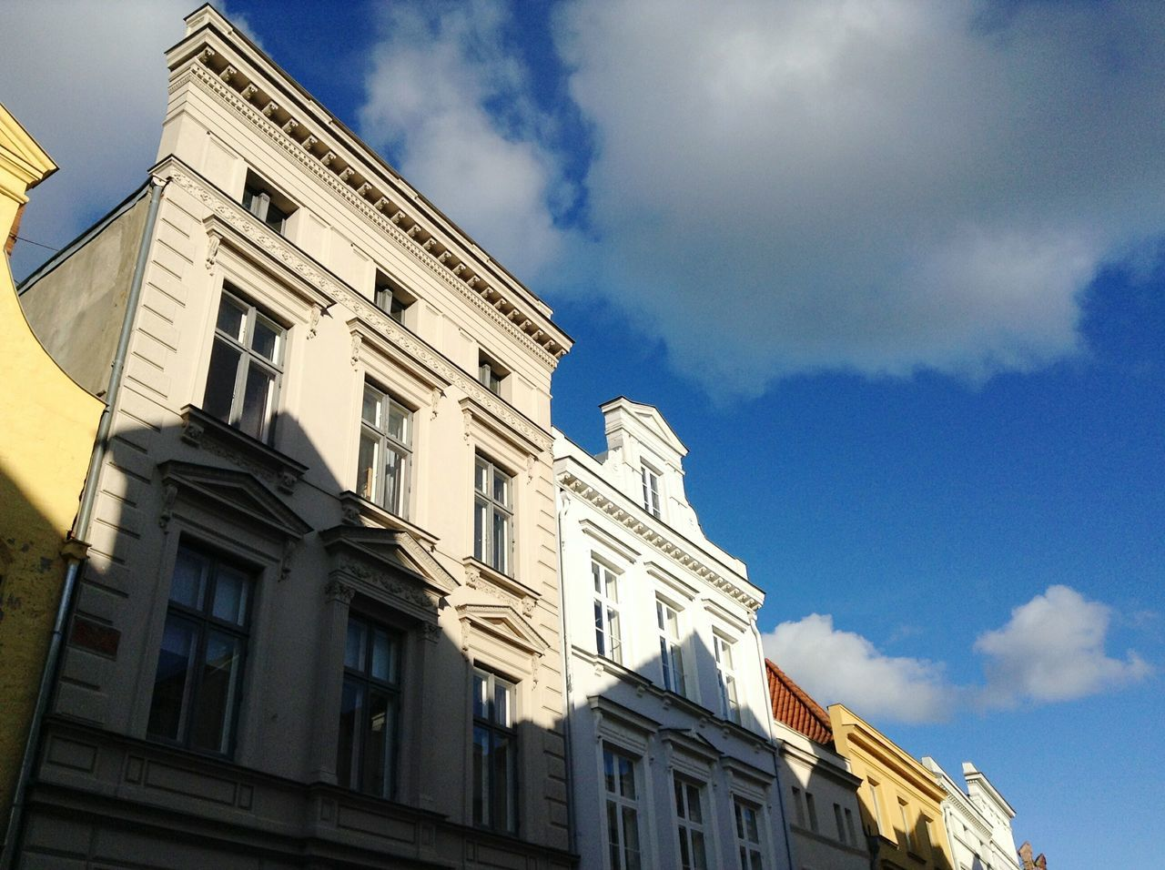 Somewhere in Lübeck. · Germany Schleswig-Holstein Hansestadt Lübeck Hl Old Town Architecture Urban Geometry Urban Landscape Buildings Building Fronts Low Angle View No People Sky Blue Sky